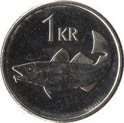 1 króna (Magnétique) -  revers