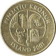 50 krónur -  avers