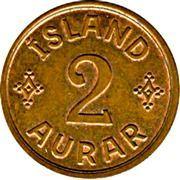2 aurar - Christian X – revers