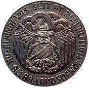 5 krónur (Althing) – revers