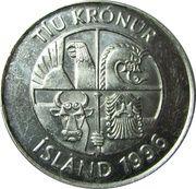 10 krónur (Magnétique) -  avers
