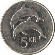 5 krónur (Magnétique) -  revers