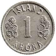 1 króna – revers