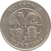 10 krónur (Non magnétique) -  avers