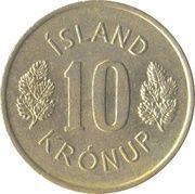 10 krónur -  revers