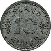 10 aurar - Christian X – revers