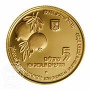 5 New Sheqalim (Lion and Pomegranate) – avers