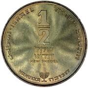 ½ New Sheqel (Hanukkah) -  revers