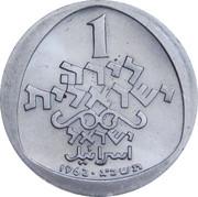 1 Lira (Hanukkah - Italian lamp) – revers