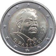 2 euros Giovanni Pascoli -  avers