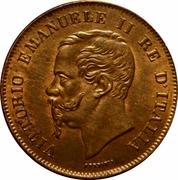 5 centesimi Victor-Emmanuel II – avers