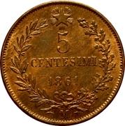 5 centesimi Victor-Emmanuel II – revers