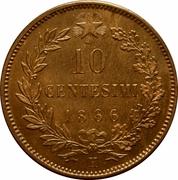 10 centesimi Victor-Emmanuel II – revers