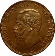 10 centesimi Victor-Emmanuel II – avers
