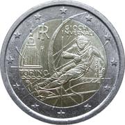 2 euros JO 2006 Jeux d'hiver de Turin -  avers