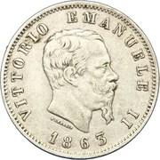 1 lire Victor-Emmanuel II – avers