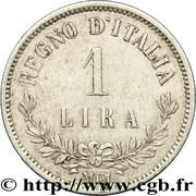 1 lire Victor-Emmanuel II – revers