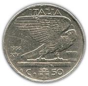 50 centesimi Victor-Emmanuel III (nickel) – revers