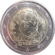 2 euros Giuseppe Verdi -  avers
