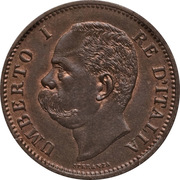 5 centesimi Humbert Ier – avers