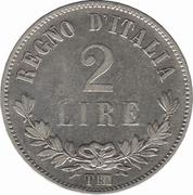2 lires Victor-Emmanuel II – revers