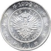 1 Lira  Storia della Lira 1901 – revers