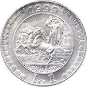 1 Lira  Storia della lira 1915 – revers