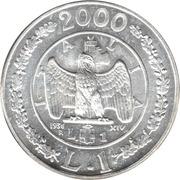 1 Lira Storia della Lira 1936 – revers