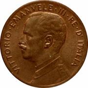 2 centesimi Victor-Emmanuel III – avers