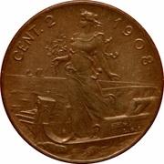 2 centesimi Victor-Emmanuel III – revers