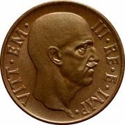 5 centesimi Victor-Emmanuel III (cuivre) – avers
