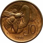 10 centesimi Victor-Emmanuel III – revers
