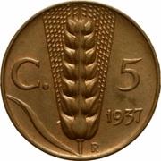 5 centesimi Victor-Emmanuel III – revers