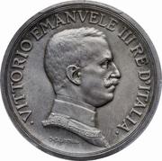 5 lires Victor-Emmanuel III – avers