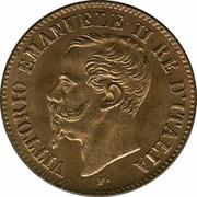 2 centesimi Victor-Emmanuel II – avers