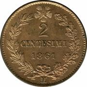 2 centesimi Victor-Emmanuel II – revers