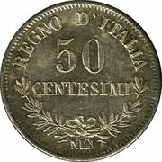 50 centesimi Victor-Emmanuel II – revers