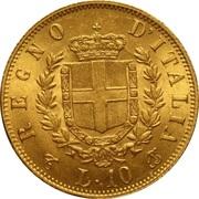 10 lires Victor-Emmanuel II – revers