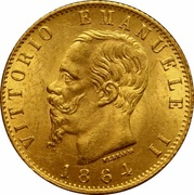 20 lires Victor-Emmanuel II – avers