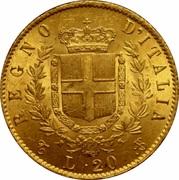 20 lires Victor-Emmanuel II – revers