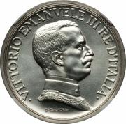 5 Lire - Vittorio Emanuele III (Prova di stampa) – avers