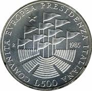 500 lires Marché commun européen – revers