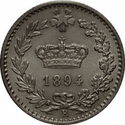 20 centesimi Humbert Ier – avers