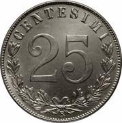 25 centesimi Victor-Emmanuel III – revers