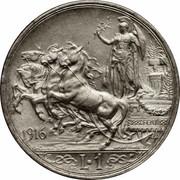 1 lire Victor-Emmanuel III – revers