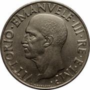 1 lire Victor-Emmanuel III (magnétique) – avers