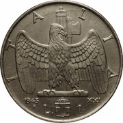 1 lire Victor-Emmanuel III (magnétique) – revers