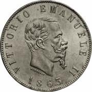 2 lires Victor-Emmanuel II – avers