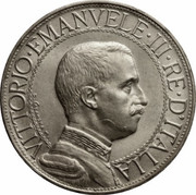 2 lires Victor-Emmanuel III – avers