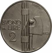 2 lires Victor-Emmanuel III -  revers